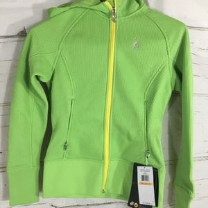 SPYDER Ardent Full Zip Hoodie Mid Wt Lime Green